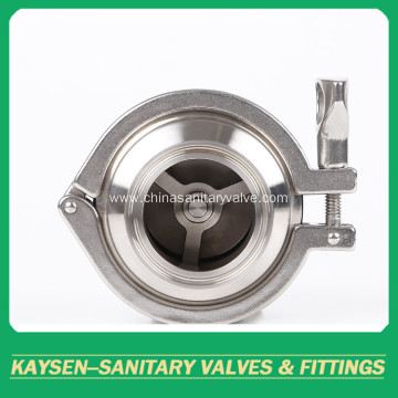 DIN Hygienic Check Valves Clamp Ends
